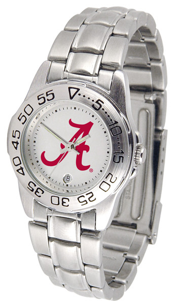 Alabama Crimson Tide Ladies Sport Steel Watch | SunTime | ST-CO3-ACT-SPORTLM