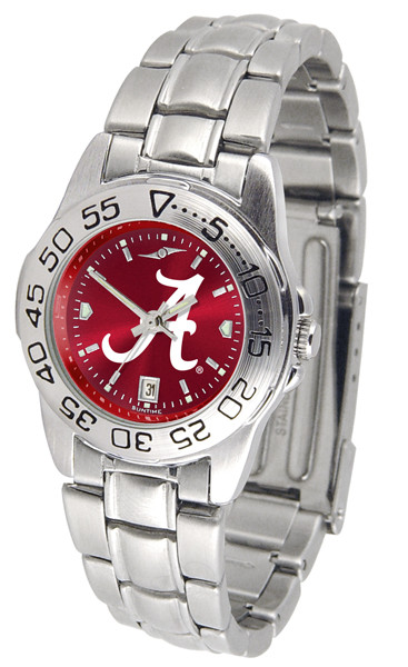 Alabama Crimson Tide Ladies Sport Steel AnoChrome Watch | SunTime | ST-CO3-ACT-SPORTLM-A