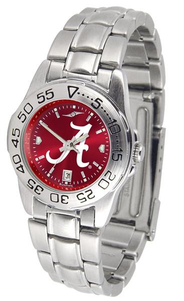 Alabama Crimson Tide Ladies Sport Steel AnoChrome Watch | SunTime | ST-CO3-ACT-SPORTLM-A