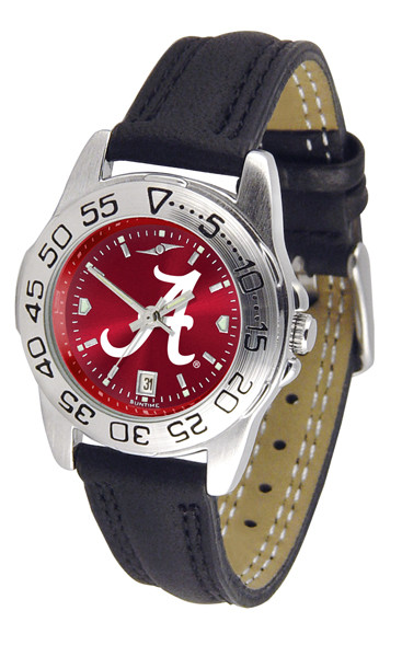 Alabama Crimson Tide Ladies Sport Leather AnoChrome Watch | SunTime | ST-CO3-ACT-SPORTL-A