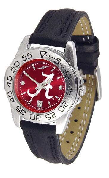 Alabama Crimson Tide Ladies Sport Leather AnoChrome Watch | SunTime | ST-CO3-ACT-SPORTL-A
