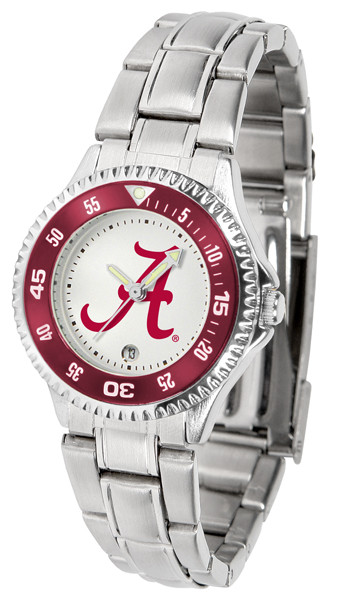 Alabama Crimson Tide Ladies Competitor Steel Watch | SunTime | st-co3-act-complm