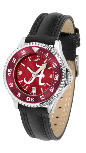 Alabama Crimson Tide Ladies Competitor AnoChrome Watch with Color Bezel | SunTime | ST-CO3-ACT-COMPL-AC