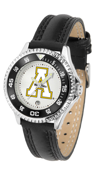 Appalachian State Mountaineers Ladies Competitor Sport Leather Watch | SunTime | ST-CO3-ASM-COMPL