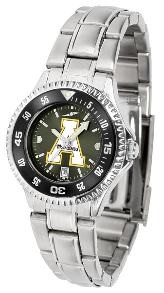Appalachian State Mountaineers Ladies Competitor Steel AnoChrome Watch with Color Bezel | SunTime | ST-CO3-ASM-COMPLM-AC