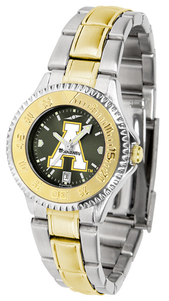 Appalachian State Mountaineers Ladies Competitor Two-Tone AnoChrome Watch | SunTime |st-co3-asm-complmg-a