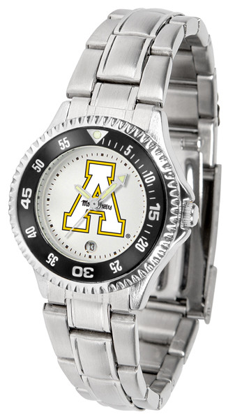 Appalachian State Mountaineers Ladies Competitor Steel Watch | SunTime | st-co3-asm-complm