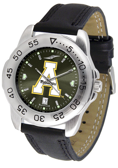 Appalachian State Mountaineers Men's Sport Leather AnoChrome Watch | SunTime | ST-CO3-ASM-SPORT2-A