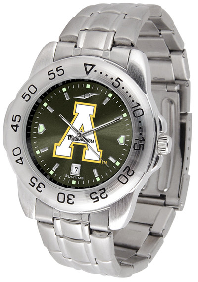 Appalachian State Mountaineers Sport Steel AnoChrome Watch | SunTime | ST-CO3-ASM-SPORTM-A