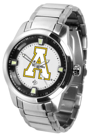 Appalachian State Mountaineers Men's Titan Steel Watch | SunTime | ST-CO3-ASM-TITANM