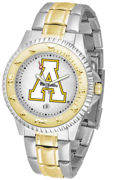 Appalachian State Mountaineers Men's Competitor Two-Tone Watch | SunTime | ST-CO3-ASM-COMPMG