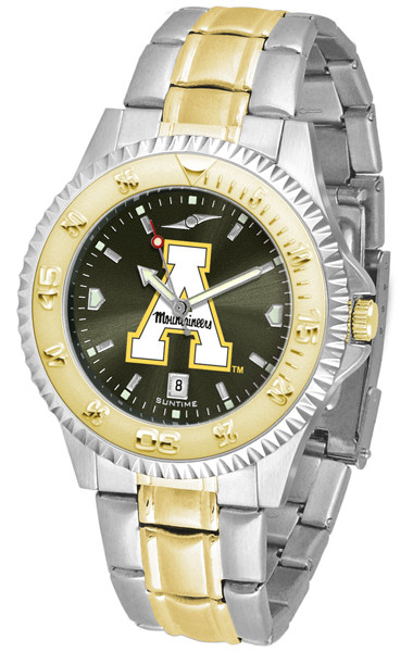 Appalachian State Mountaineers Men's Competitor Two-Tone AnoChrome Watch | SunTime | st-co3-ASM-compmg-a