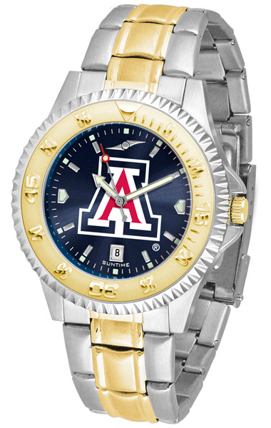 Arizona Wildcats Men's Competitor Two-Tone AnoChrome Watch | SunTime | st-co3-AZW-compmg-a
