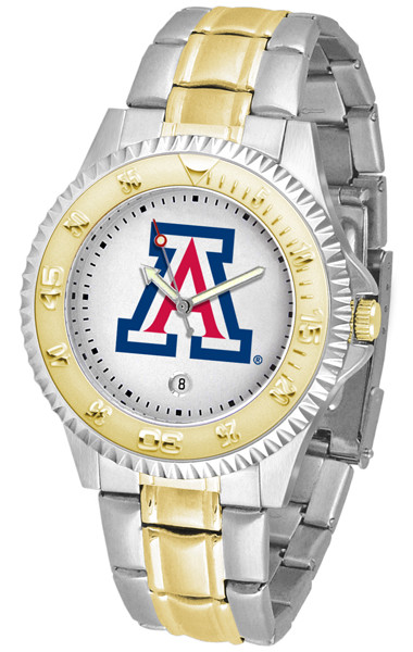 Arizona Wildcats Men's Competitor Two-Tone Watch | SunTime | ST-CO3-AZW-COMPMG