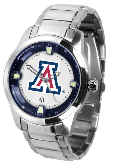 Arizona Wildcats Men's Titan Steel Watch | SunTime | ST-CO3-AZW-TITANM