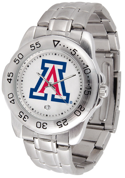 Arizona Wildcats Men's Sport Steel Watch | SunTime | ST-CO3-AZW-SPORTM