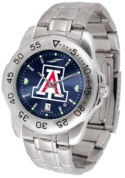 Arizona Wildcats Sport Steel AnoChrome Watch | SunTime | ST-CO3-AZW-SPORTM-A