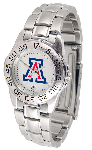 Arizona Wildcats Ladies Sport Steel Watch | SunTime | ST-CO3-AZW-SPORTLM