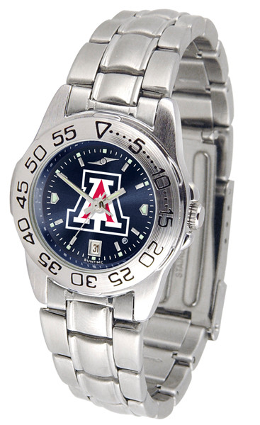 Arizona Wildcats Ladies Sport Steel AnoChrome Watch | SunTime | ST-CO3-AZW-SPORTLM-A