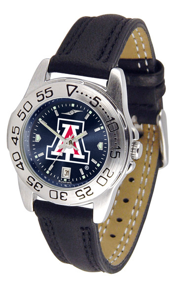 Arizona Wildcats Ladies Sport Leather AnoChrome Watch | SunTime | ST-CO3-AZW-SPORTL-A