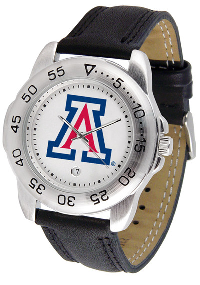 Arizona Wildcats Men's Sport Leather Watch | SunTime | ST-CO3-AZW-SPORT2