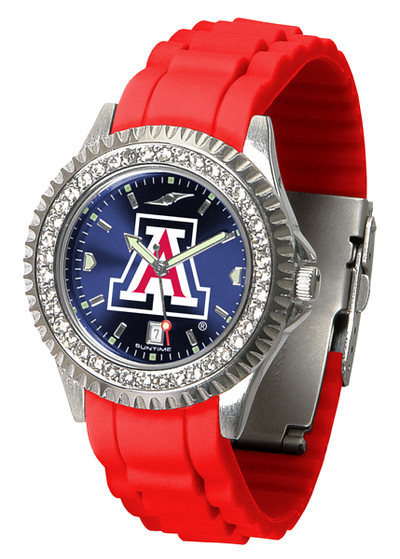 Arizona Wildcats Ladies Sparkle Watch | SunTime | ST-CO3-AZW-SPARKLE