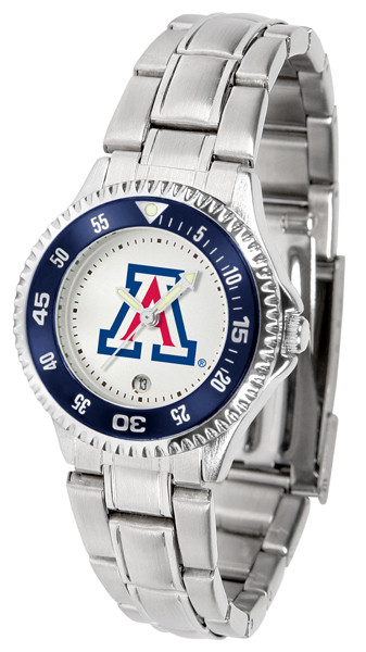 Arizona Wildcats Ladies Competitor Steel Watch | SunTime | st-co3-azw-complm