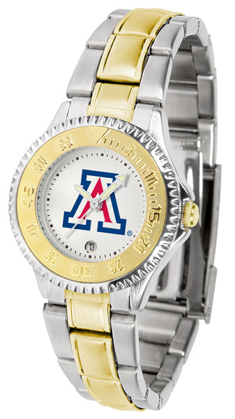 Arizona Wildcats Ladies Competitor Two-Tone Watch | SunTime | ST-CO3-AZW-COMPLMG