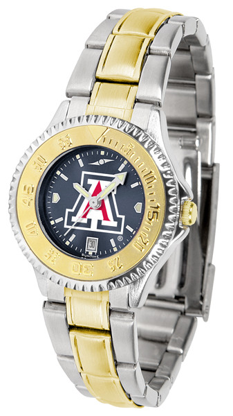Arizona Wildcats Ladies Competitor Two-Tone AnoChrome Watch | SunTime | st-co3-azw-complmg-a