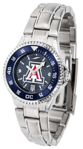 Arizona Wildcats Ladies Competitor Steel AnoChrome Watch with Color Bezel | SunTime | ST-CO3-AZW-COMPLM-AC