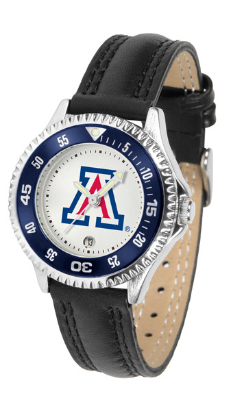 Arizona Wildcats Ladies Competitor Sport Leather Watch | SunTime | ST-CO3-AZW-COMPL