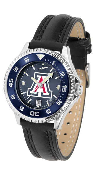 Arizona Wildcats Ladies Competitor AnoChrome Watch with Color Bezel   SunTime   ST-CO3-AZW-COMPL-AC