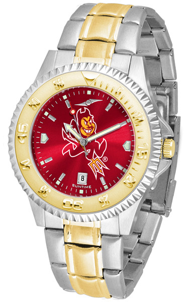 Arizona State Sun Devils Men's Competitor Two-Tone AnoChrome Watch | SunTime | st-co3-ASD-compmg-a