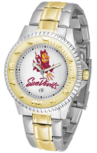 Arizona State Sun Devils Men's Competitor Two-Tone Watch | SunTime | ST-CO3-ASD-COMPMG