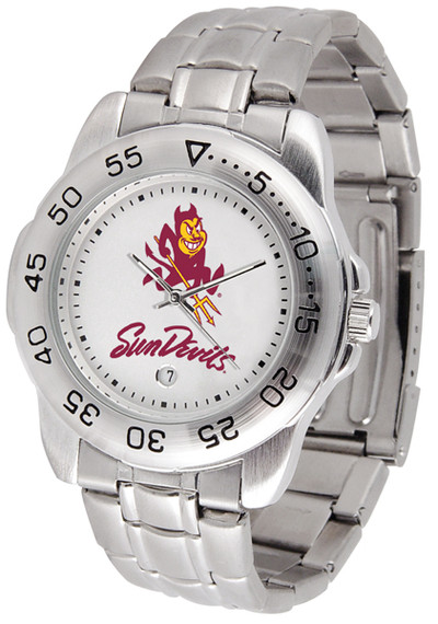 Arizona State Sun Devils Men's Sport Steel Watch | SunTime | ST-CO3-ASD-SPORTM