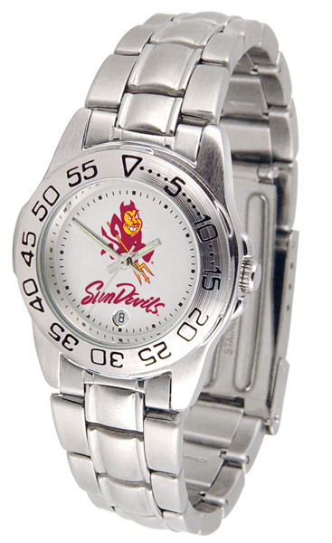 Arizona State Sun Devils Ladies Sport Steel Watch | SunTime | ST-CO3-ASD-SPORTLM