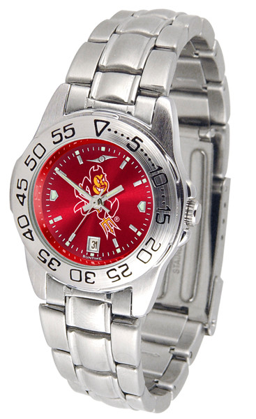 Arizona State Sun Devils Ladies Sport Steel AnoChrome Watch | SunTime | ST-CO3-ASD-SPORTLM-A