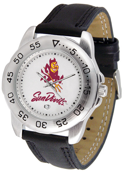 Arizona State Sun Devils Men's Sport Leather Watch | SunTime | ST-CO3-ASD-SPORT2