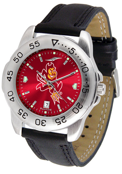 Arizona State Sun Devils Men's Sport Leather AnoChrome Watch | SunTime | ST-CO3-ASD-SPORT2-A