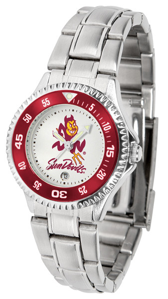 Arizona State Sun Devils Ladies Competitor Steel Watch | SunTime | st-co3-asd-complm