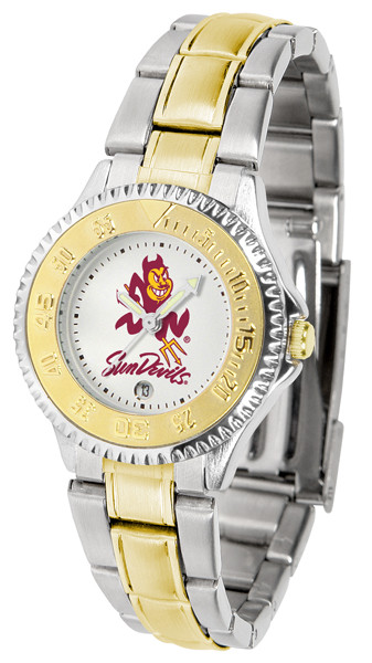 Arizona State Sun Devils Ladies Competitor Two-Tone Watch | SunTime | ST-CO3-ASD-COMPLMG
