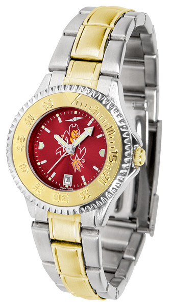 Arizona State Sun Devils Ladies Competitor Two-Tone AnoChrome Watch | SunTime | st-co3-asd-complmg-a