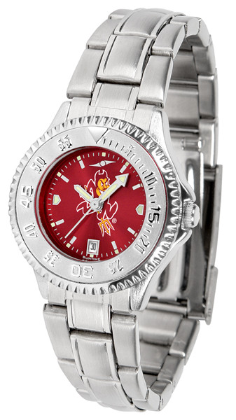 Arizona State Sun Devils Ladies Competitor Steel AnoChrome Watch | SunTime | st-co3-asd-complm-a