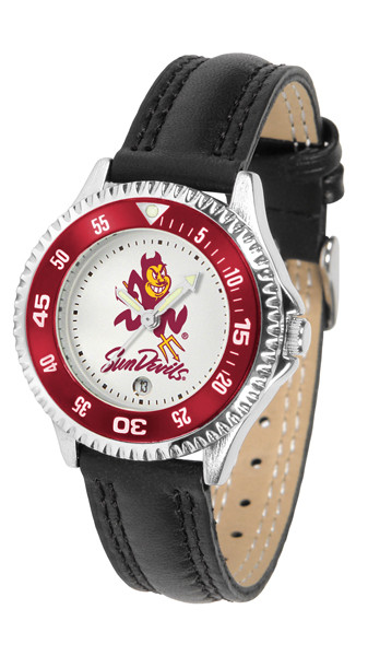 Arizona State Sun Devils Ladies Competitor Sport Leather Watch   SunTime   ST-CO3-ASD-COMPL