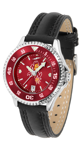 Arizona State Sun Devils Ladies Competitor AnoChrome Watch with Color Bezel   SunTime   ST-CO3-ASD-COMPL-AC