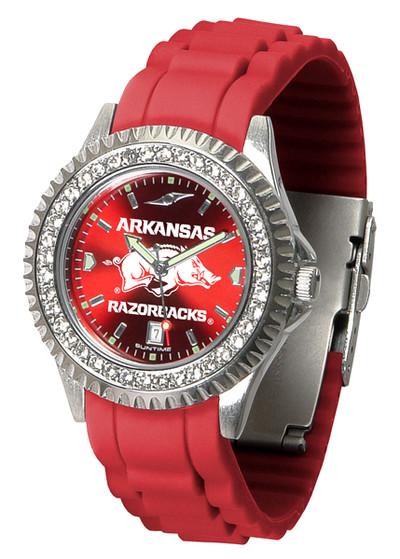 Arkansas Razorbacks Ladies Sparkle Watch | SunTime | ST-CO3-ARR-SPARKLE