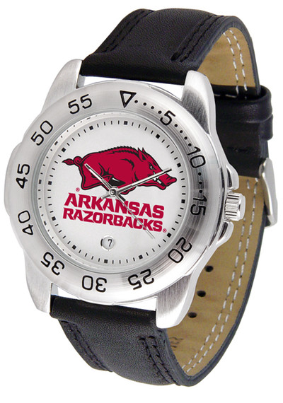 Arkansas Razorbacks Men's Sport Leather Watch | SunTime | ST-CO3-ARR-SPORT2