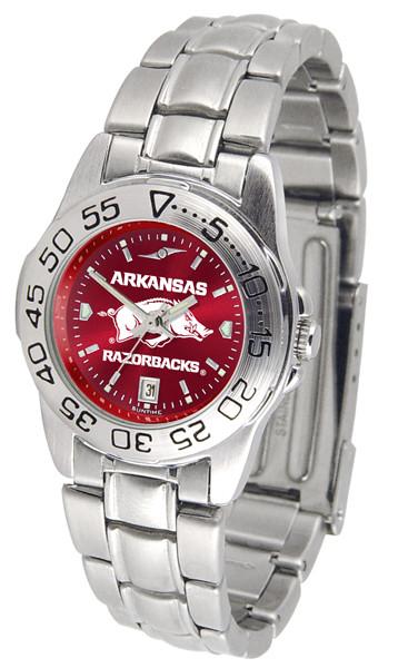 Arkansas Razorbacks Ladies Sport Steel AnoChrome Watch | SunTime | ST-CO3-ARR-SPORTLM-A