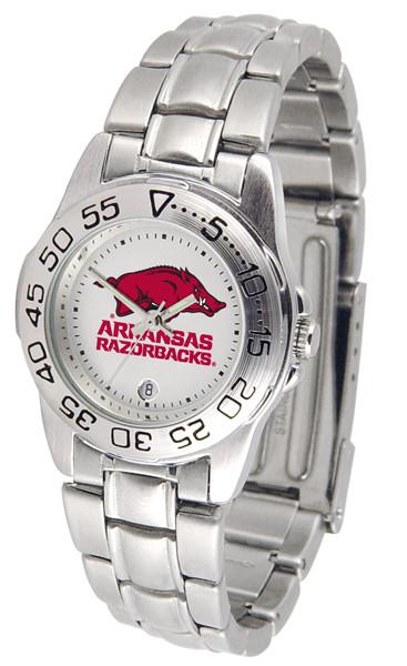 Arkansas Razorbacks Ladies Sport Steel Watch | SunTime | ST-CO3-ARR-SPORTLM