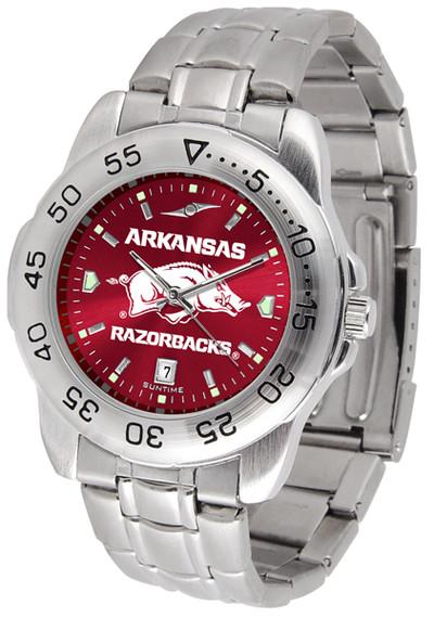 Arkansas Razorbacks Sport Steel AnoChrome Watch | SunTime | ST-CO3-ARR-SPORTM-A